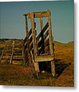 Livestalk Loader In South Dakota Metal Print