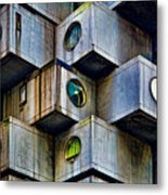 Living In Boxes Metal Print