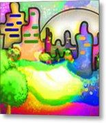 Living In Color Metal Print by Melisa Meyers