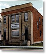Livingston Manor Ny - National Bank Metal Print