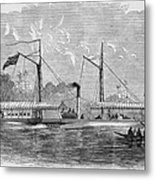 Livingstone: Steam Launch Metal Print by Granger
