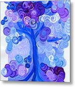 Liz Dixon's Tree Blue Metal Print