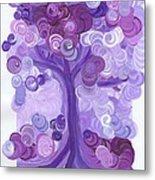 Liz Dixon's Tree Purple Metal Print