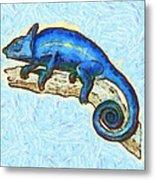 Lizzie Loved Lizards Metal Print by Nikki Marie Smith