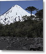 Llaima Volcano, Araucania Region, Chile Metal Print