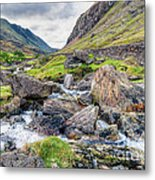 Llanberis Pass Metal Print by Adrian Evans