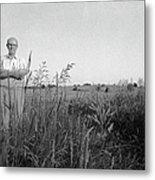 Lloyd Owens On His Farm Metal Print