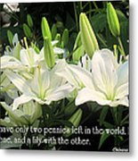 Loaf And Lilly Metal Print
