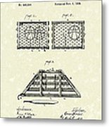 Lobster Trap 1888 Patent Art Metal Print