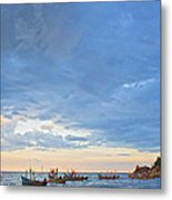Local Fishing Boats Dock. Metal Print