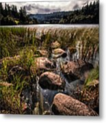 Loch Ard From The Reed Beds Metal Print by John Farnan