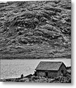 Loch Arklet Boathouse Metal Print