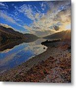Loch Long As The Sun Sets Metal Print