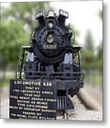 Locomotive 639 Type 2 8 2 Front View Metal Print