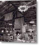 Lodge Starved Rock State Park Illinois Bw Metal Print