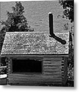 Log Cabin At Discovery Harbour Metal Print
