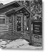 Log Cabin Library 11 Metal Print