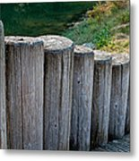 Log Handrail Metal Print