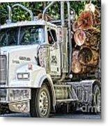 Logging Truck Metal Print