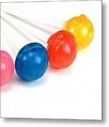 Lollipop Close Up Metal Print