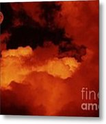 Lomo Moon And Clouds Metal Print