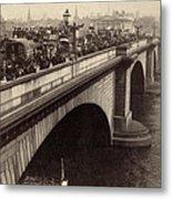 London Bridge - England - C 1896 Metal Print by International  Images