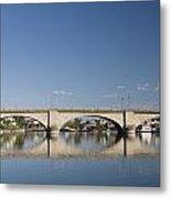 London Bridge And Reflection Metal Print