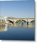 London Bridge And Reflection II Metal Print