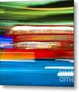 London Bus Motion Metal Print