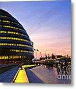 London City Hall At Night Metal Print