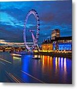 london Eye Nightscape Metal Print by Arthit Somsakul