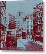 London Fleet Street Metal Print