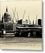 London From The Southbank Metal Print