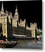 London Parliament Metal Print