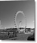 London Skyline Edf Eye Bw Metal Print