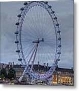 London Skyline Edf Eye Metal Print