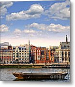 London Skyline From Thames River Metal Print