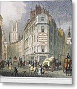London: Street Scene, 1830 Metal Print