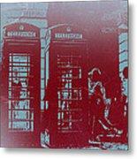 London Telephone Booth Metal Print