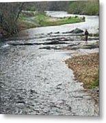 Lone Fisherman 1 Metal Print