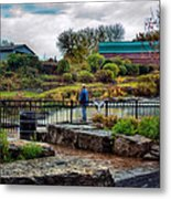 Lone Fisherman Metal Print