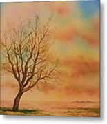 Lone Tree On The Montana Praire Metal Print