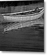 Lone White Boat In Nova Scotia Metal Print