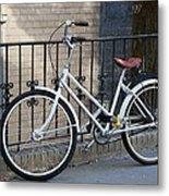 Lonely Bike Metal Print