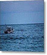 Lonely Boat Metal Print