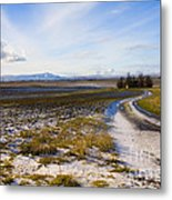 Lonely House On The Prairie Metal Print