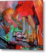 Lonely In The Big City Metal Print