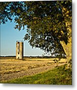 Lonely Silo 4 Metal Print