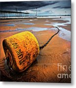 Lonely Yellow Buoy Metal Print