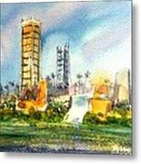 Long Beach Oil Islands Metal Print